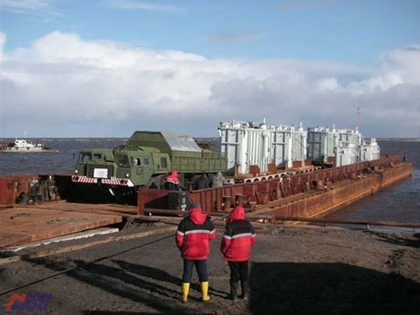 Cabotage, barge with bulky cargo