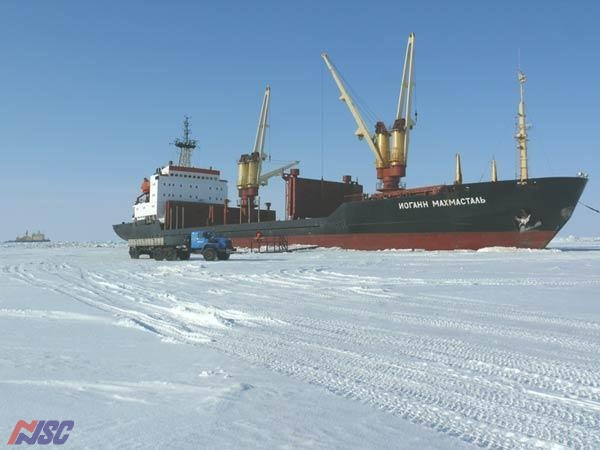 "m/v ""Iohann Mahmastal"" - the self-discharging on to ice piers"
