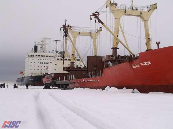 "m/v  ""Ivan Ryabov"" - the self-discharging on to ice piers"
